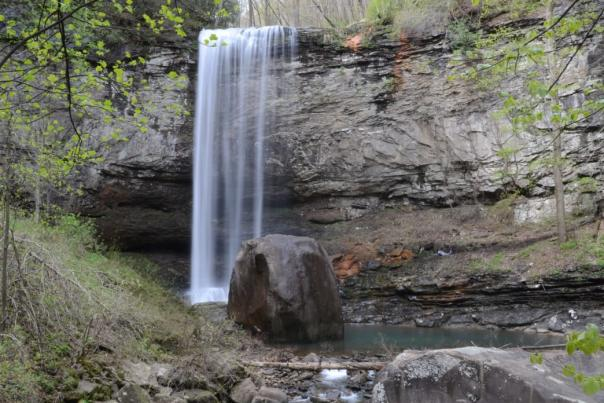 Hemlock Falls is one of the two waterfalls that you'll enjoy along this hike.