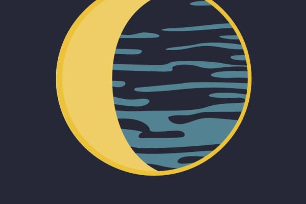 Moon River Window Cling