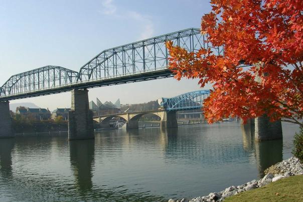 Walnut Street Bridge Fall Foliage