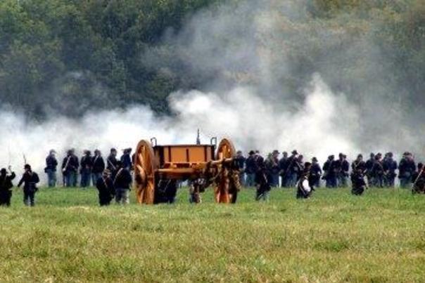 Civil War Reenactment Chickamauga Battlefield