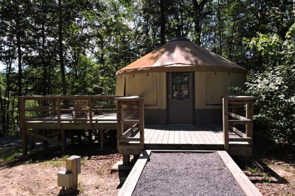 Staying at a yurt in Cloudland Canyon is one of the most memorable camping experiences around Chattanooga.