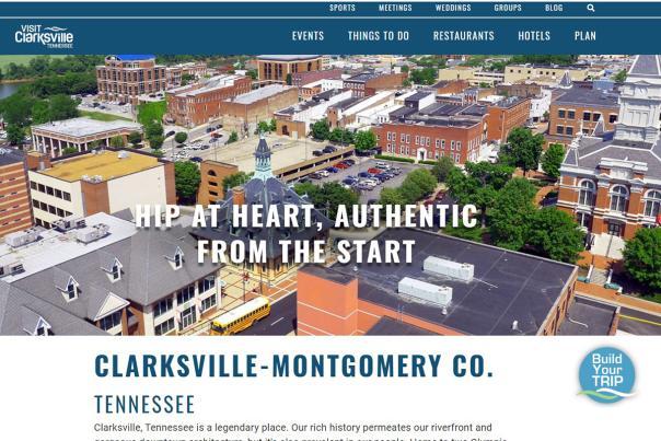 new website home screen