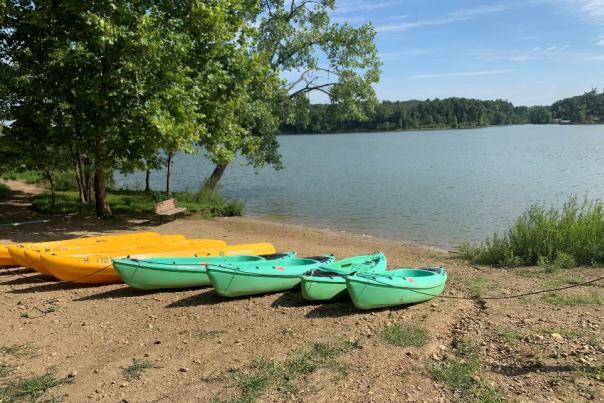 Canoes at Deer Creek