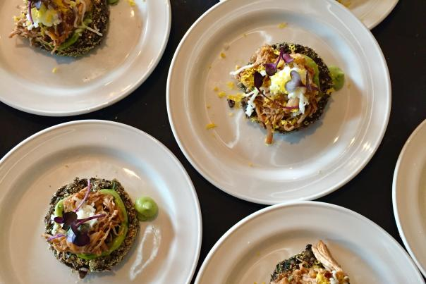 Small plates of gourmet dishes at Taste of Dine Originals