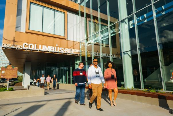 GCCC North Atrium Exterior + Attendees