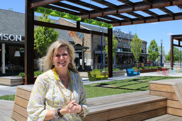 Easton Chief Executive Jennifer Peterson poses in the new expansion