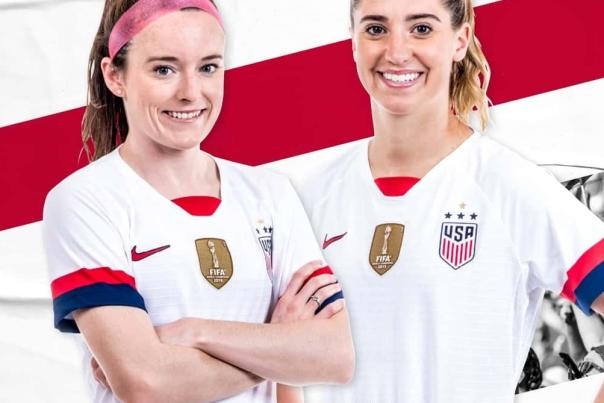 US Womens National Team players, part of Columbus match vs. Sweden promo