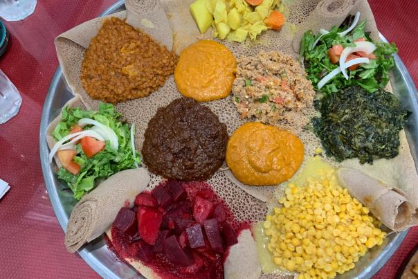 Platter from Addis restaurant