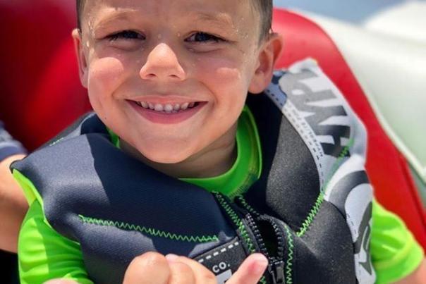boy on lake