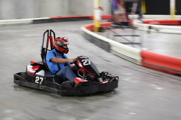 Man In Go-cart at Autobahn Speedway in Lamoyne, PA