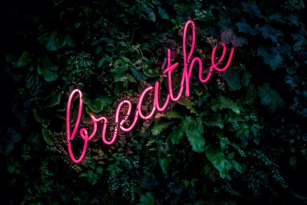 Breathe Neon Sign from Unsplash Widescreen
