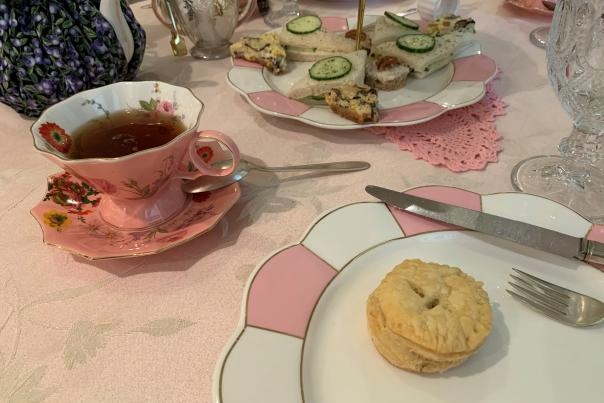 Afternoon tea at Camellia's Sin Tea Room & Gift Shop in Carlisle, PA