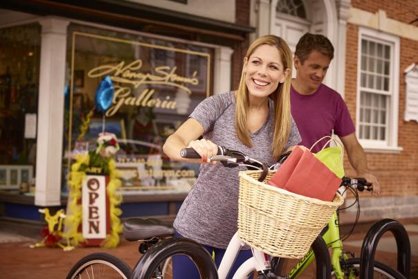 Biking in downtown Carlisle