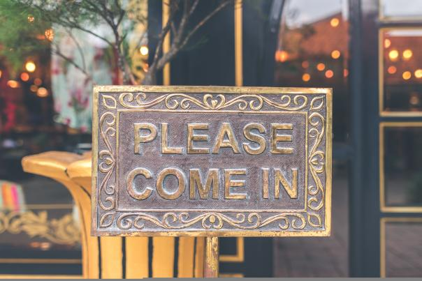 Please Come In Sign Unsplash
