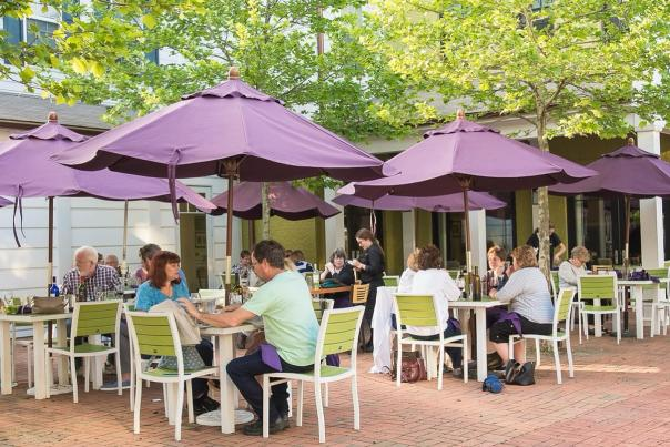 Diner's enjoy the fresh air while dining outside at Sophia's at Walden.