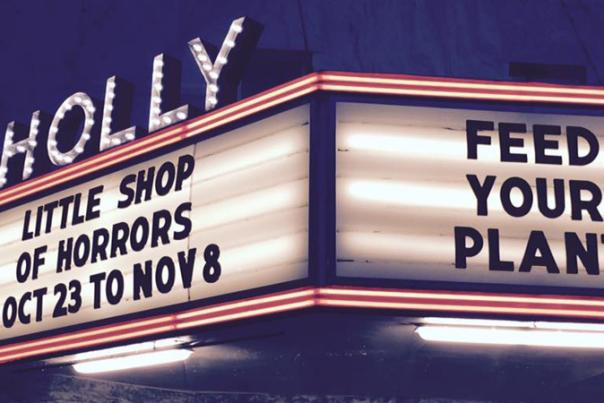 Last Weekend to Catch the Little Shop of Horrors at the Historic Holly Theater