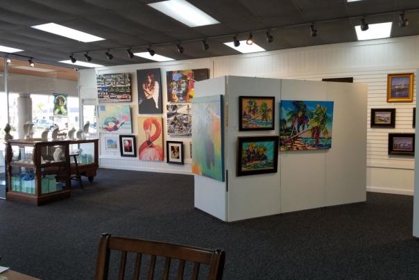 Art work on display at a local Daytona Beach area gallery.