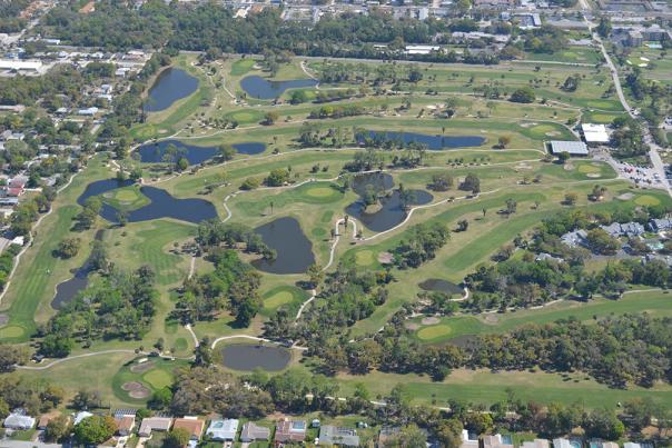 Aerial View of Daytona Beach Golf Club North Course