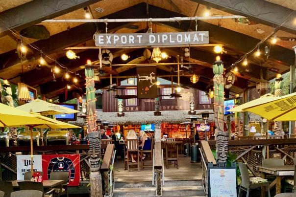 Grind Gastropub and Kona Tiki Bar is a trendy spot to dine in Ormond Beach's Arts District