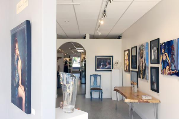 A view of the art on the walls of Arts on Granada in Ormond Beach.