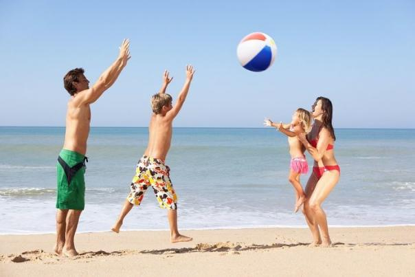 Families Enjoy A Variety of Beach Games