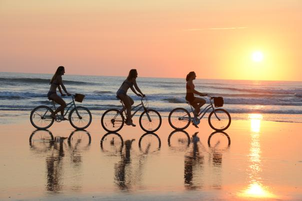 Family time bicycling in Daytona Beach