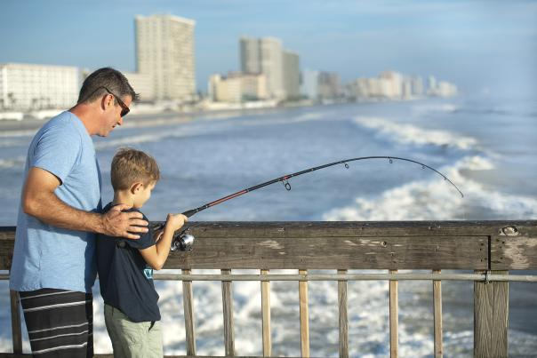 Father Son Fishing Daytona Beach