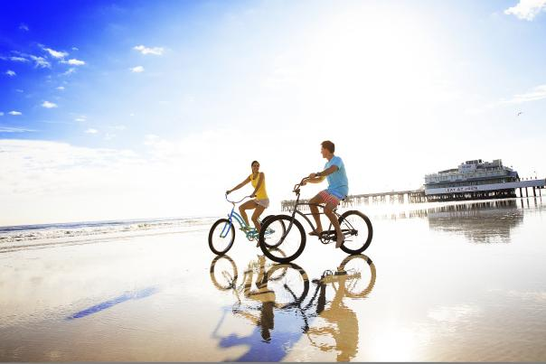Bicycling on Daytona Beach