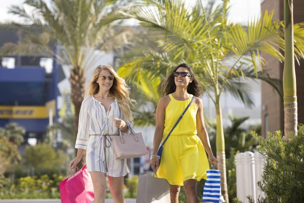Two girls shopping - new creative
