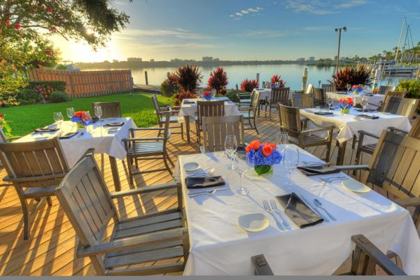 A beautiful view awaits at the Chart House on the Halifax River in Daytona Beach