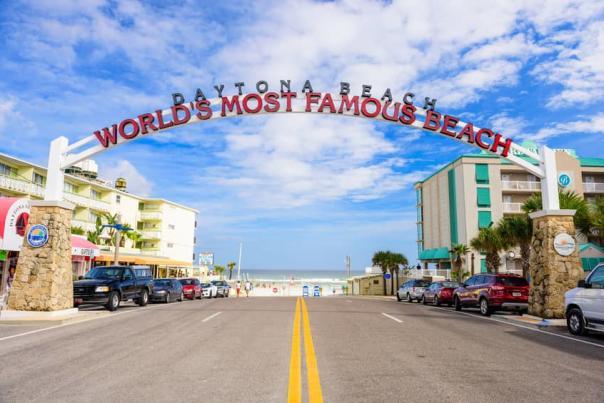 The World's Most Famous Beach Sign at the International Speedway Boulevard Beach Access Ramp