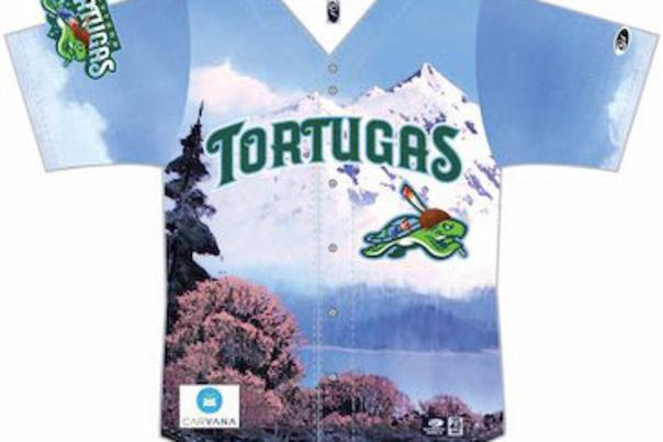 A Bob Ross-Inspired Daytona Tortugas Jersey