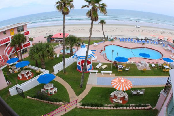 Daytona Beach view from hotel with kitchenette