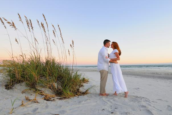 A wedding on Daytona Beach