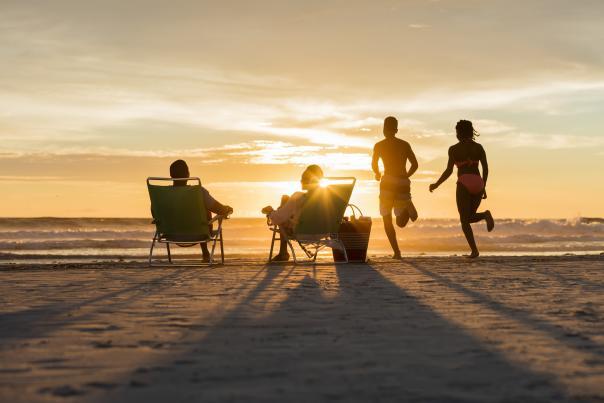 Family time on Daytona Beach