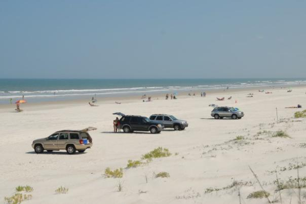 Plenty of parking at Daytona Beach