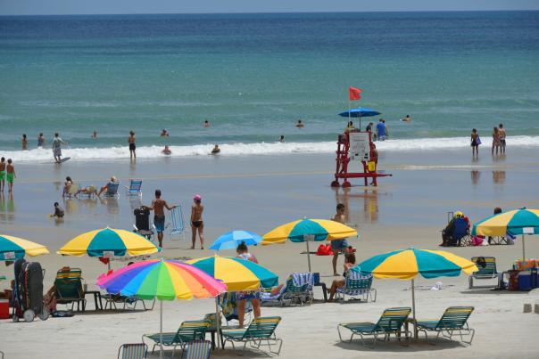 Daytona Beach and Umbrellas