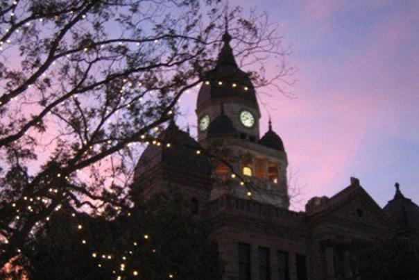 Courthouse Sunset By Darla Bostick