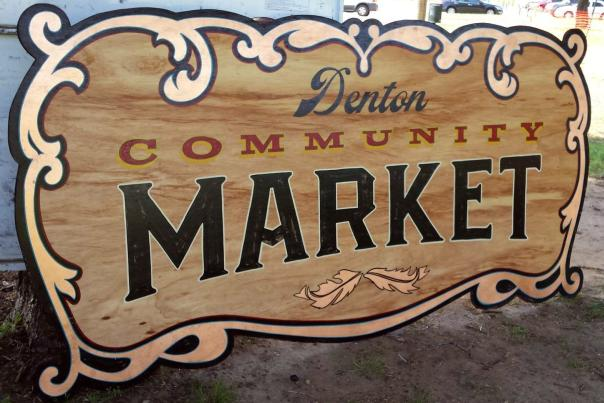 Denton Community Market sign