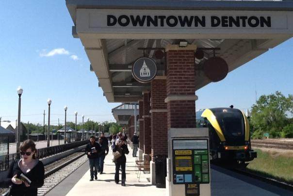 Downtown Denton train station