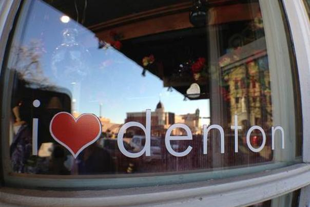 I heart Denton by Sarah T Page