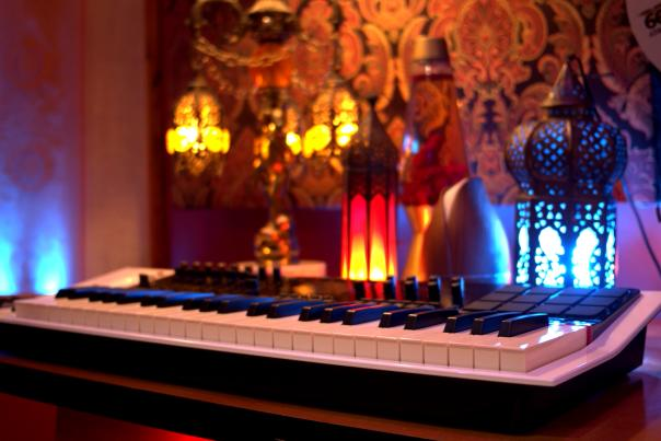 A keyboard at The Panhandle House Recording Studio