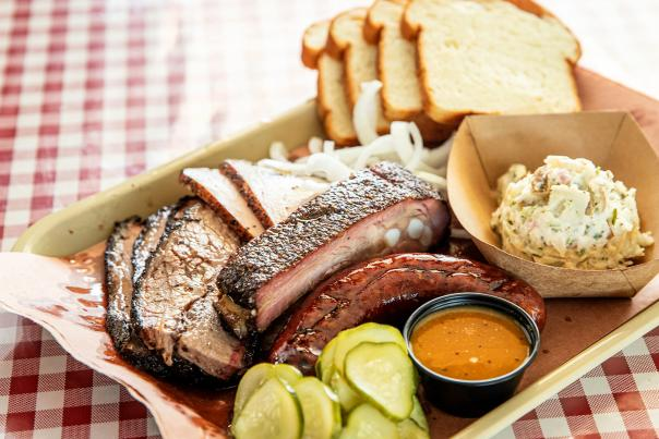 Tray of Barbecue and Sides