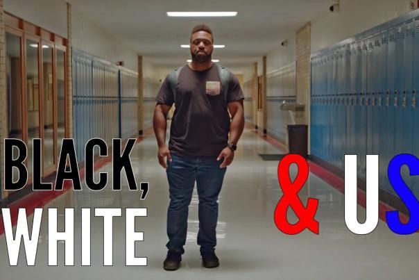 black white & us poster
