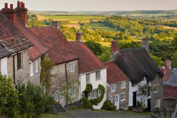 View down Gold Hill, Shaftesbury