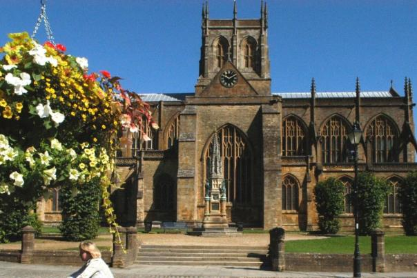 Front of Sherborne Abbey