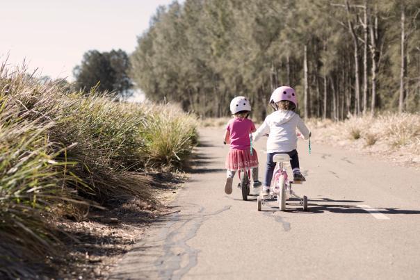 Biking with Children on Animas River Trail in Durango, CO