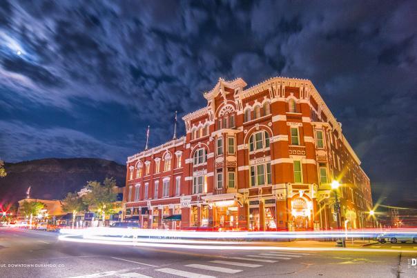 Downtown Durango at Night, Durango, CO