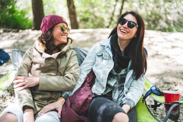 Lesbian Couple Camping in Durango, CO