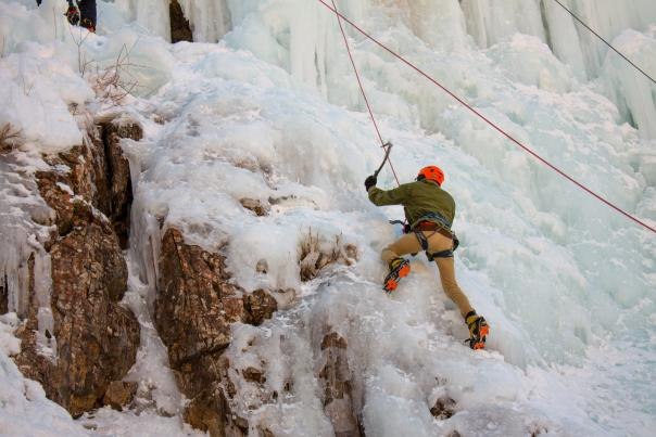 Ice Climbing at Ouray